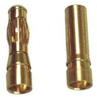 5,0 mm gold plated connectors, 2 pairs