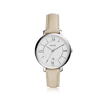 Fossil women's ES3793 beige steel watch