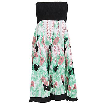 Ladies/Womens Floral And Leaf Print 2 In 1 Summer Dress/Skirt