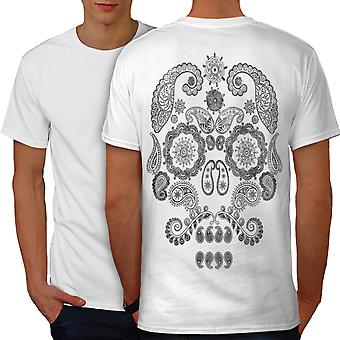 Face Of The Skull Men WhiteT-shirt Back | Wellcoda