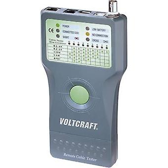 VOLTCRAFT CT-5 Cable tester Suitable for RJ-45, BNC, RJ-11, IEE