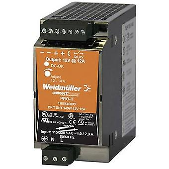 Rail mounted PSU (DIN) Weidmüller CP T SNT 140W 12V 12A 12 Vdc 12 A 140 W 1 x