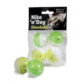 Sharples Ruff 'N' Tumble Nite 'N' Day Glow Balls 4 Pack