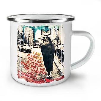Loner Stoner City Animal NEW WhiteTea Coffee Enamel Mug10 oz | Wellcoda