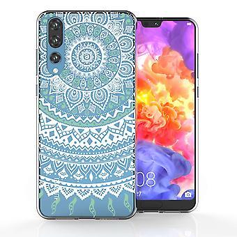 Huawei P20 Pro Mandala TPU Gel Case - mintgroen