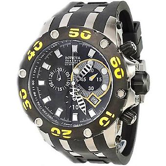 Invicta Scuba Specialty   Reserve Chronograph Black   And Yellow Mens Watch 0902