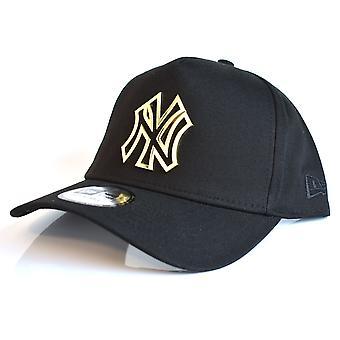 Nieuw tijdperk NY Yankees Metal Badge A-Frame Cap - zwart / goud