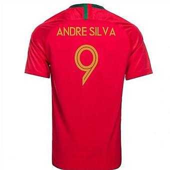 2018-2019 Portugal Home Nike Football Shirt (Andre Silva 9) - Kids