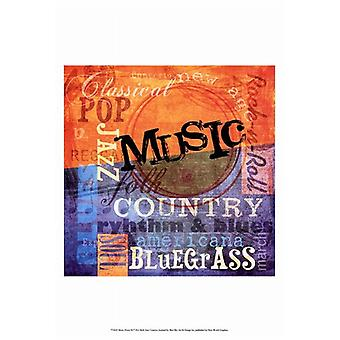 Music Notes XI Poster Print by Beth Anne Creative (13 x 19)