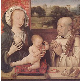 The Virgin and Child with a Dominican, CLEVE, Joos van