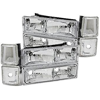 Anzo USA 111099 Chevrolet Crystal Clear with Signal/Side Marker Lights Headlight Assembly - (Sold in Pairs)
