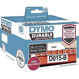 DYMO 1933088 Label roll 102 x 59 mm PE film White 300 pc(s) Permanent All-purpose labels, Address labels