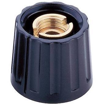 Control knob Black (Ø x H) 20 mm x 15 mm Mentor 3