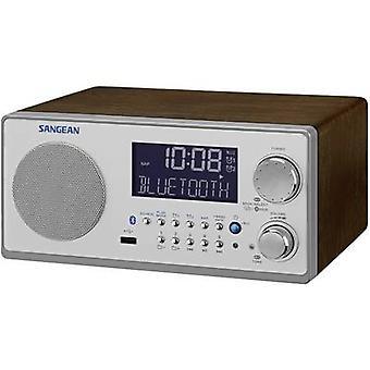 FM Table top radio Sangean WR-22 AUX, Bluetooth, AM, FM Walnut