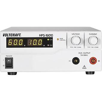 Banc de VOLTCRAFT HPS-16010 PSU (tension réglable) 1-60 Vdc 0 - 10 A 600 W no distant des sorties 1 x