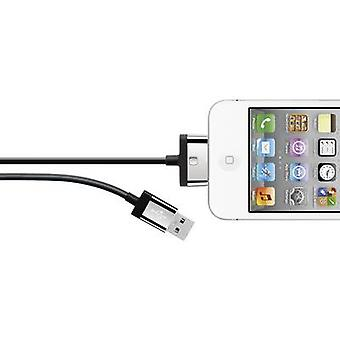 Belkin iPad/iPhone/iPod Data cable/Charger lead [1x USB 2.0 connector A - 1x Apple dock plug] 2 m Black