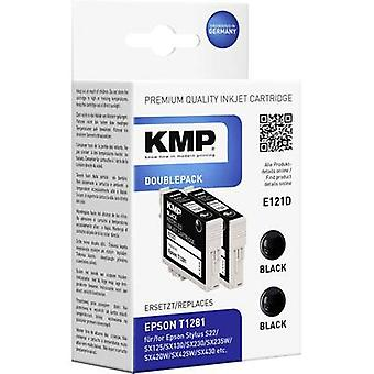 KMP Ink replaced Epson T1281 Compatible Pack of 2 Black E121D 1616,0021