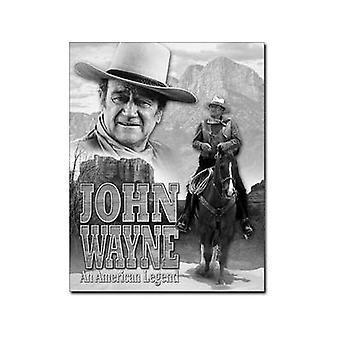 John Wayne American Legend Metal Sign