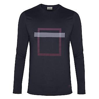CC Collection Corneliani Corneliani Navy Square Print T-Shirt