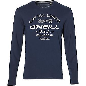 Fit O'Neill Mens blijven uit reguliere geritste lange mouw T Shirt
