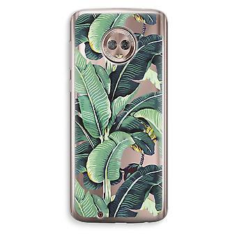 Motorola Moto G6 Transparent Case (Soft) - Banana leaves