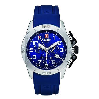 Swiss Alpine Military Herren Uhr Chrono 7063.9835SAM Silikon