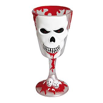 Horror wine glass skull 18 cm horror Goth accessory Carnival Halloween EMO