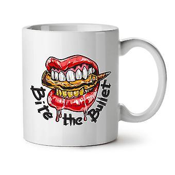 Bite The Bullet NEW White Tea Coffee Ceramic Mug 11 oz | Wellcoda