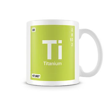 Wetenschappelijke bedrukte Mok met Element symbool 022 Ti - Titanium