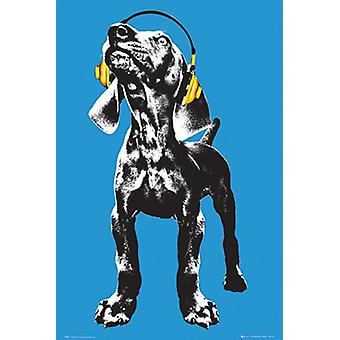 Keith Kimberlin poster dog headphones dog with headphones