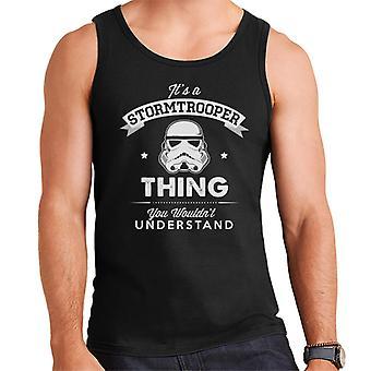Colete original Stormtrooper seu A Trooper coisa masculina