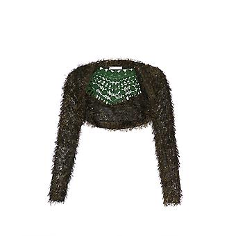 KRISP Lurex Eyelash Knitted Bolero