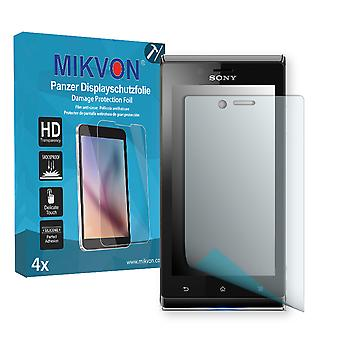 Sony Xperia J Screen Protector - Mikvon Armor Screen Protector (Retail Package with accessories)