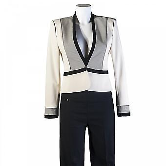 Isabel De Pedro Women's Cropped Stripe Blazer Jacket