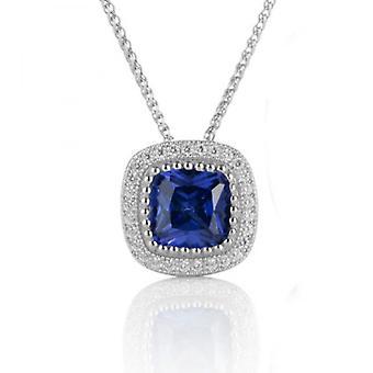 Cavendish francese bellezza blu zaffiro pendente senza catena