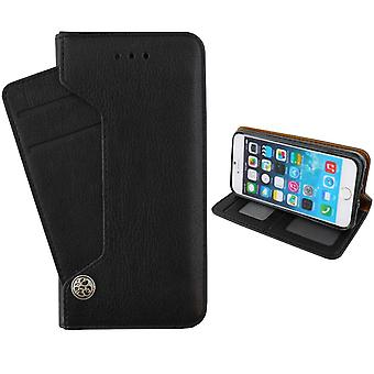 Colorfone Wallet Deluxe Case for iPhone 7/8 Wallet case BLACK