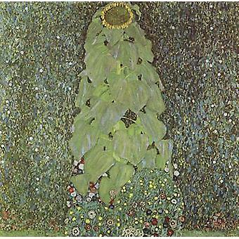 Fourteen Sunflowers in a Vase, Gustav Klimt, 50x50cm