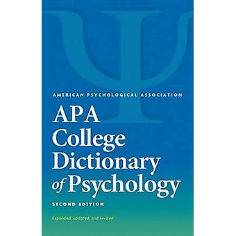 APA College Dictionary of Psychology (2nd Revised edition) by Gary R.