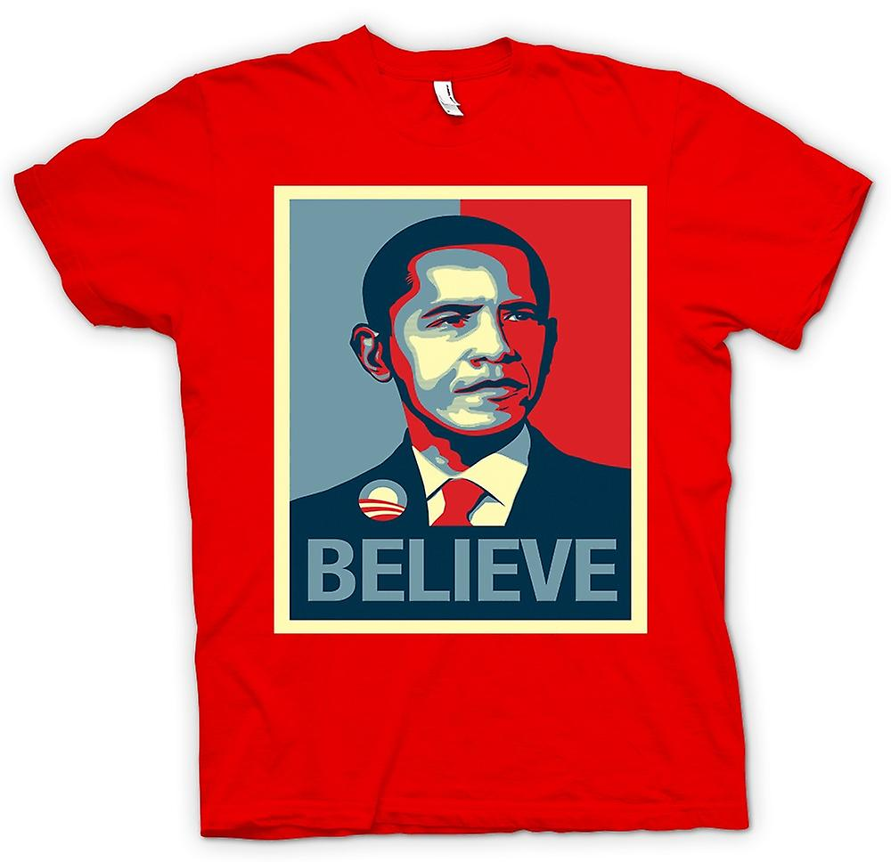 Mens T-shirt - Obama Believe Change