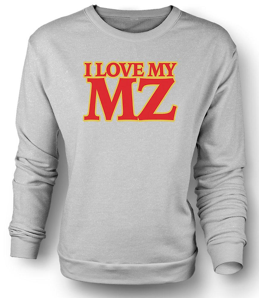 Mens Sweatshirt I love my MZ - Motorcycle - Biker