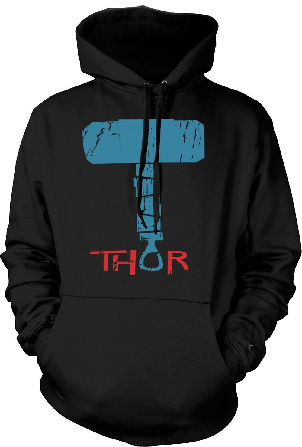 Felpa con cappuccio uomo - martello di Thor