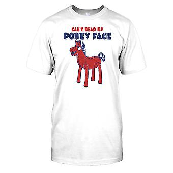 Kan niet lezen mijn Pokey gezicht - Pokey Pony Kids T Shirt