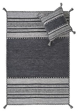 Coussin Kelim charbon tapis Tapis modernes