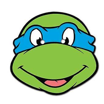 Maschera viso carta di Leonardo Teenage Mutant Ninja Turtles