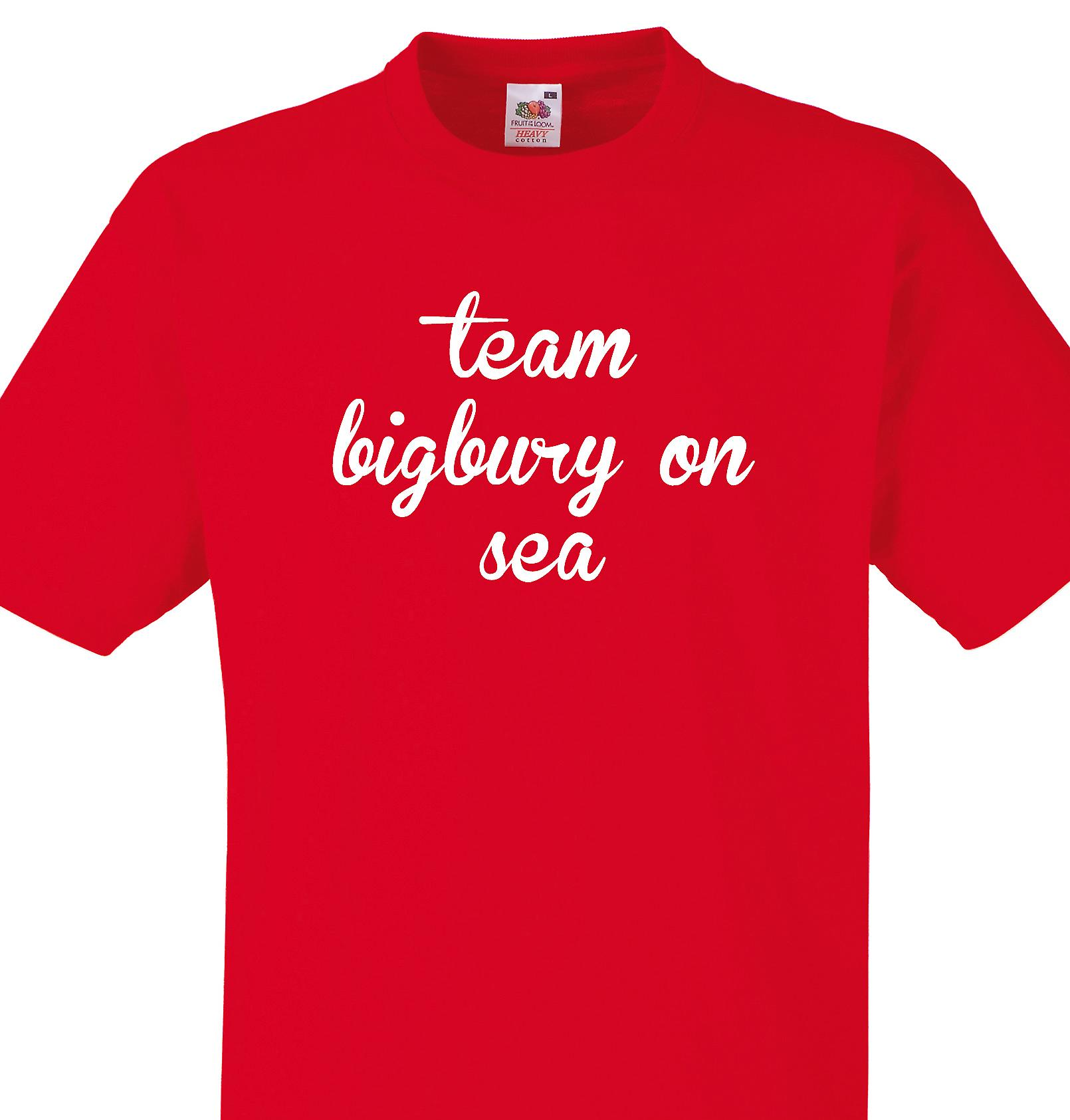 Team Bigbury on sea Red T shirt