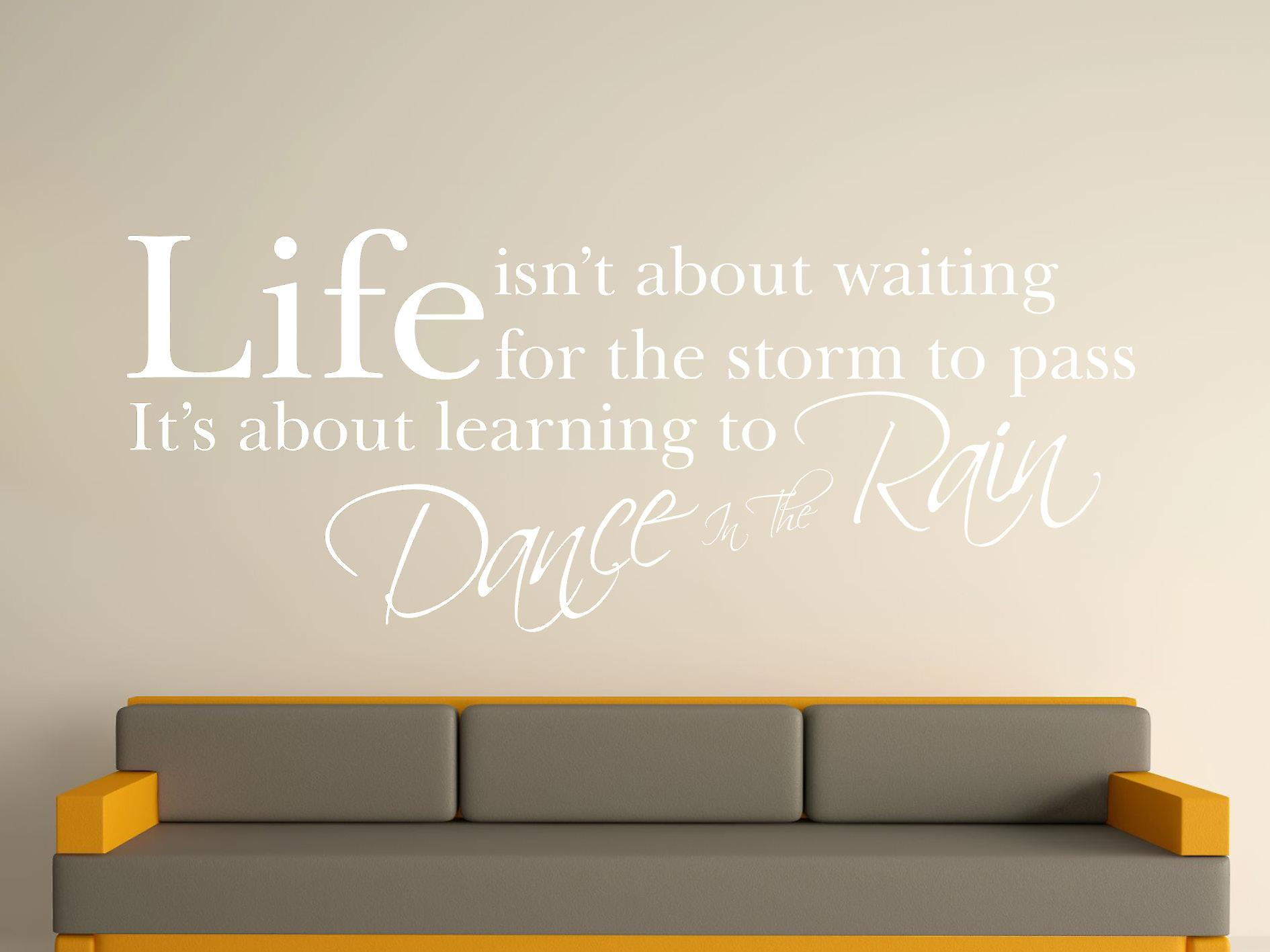 Dance In The Rain Wall Art Sticker - White
