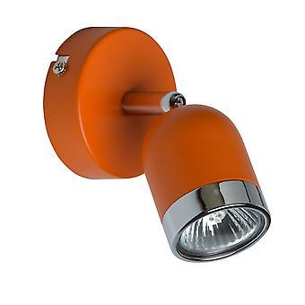 Glasberg - Orange et Chrome Double projecteur sur barre 546021002