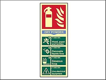 Scan Fire Extinguisher Composite - Dry Powder - Photoluminescent 75 x 200mm