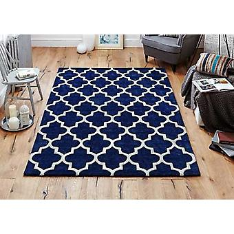 Arabesque Blue  Rectangle Rugs Plain/Nearly Plain Rugs