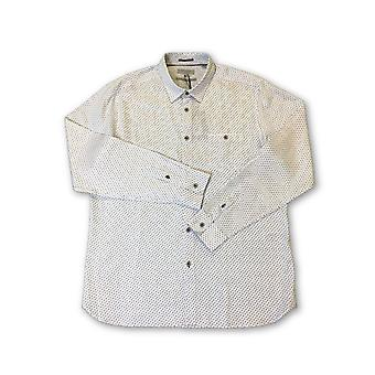 Ted Baker London shirt in white leaf pattern